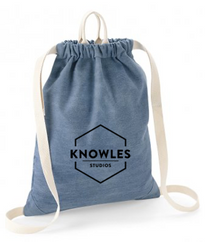 Knowles denim drawstring bag