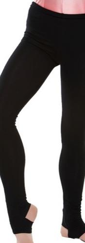 Black stirrup leggings