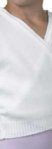 White Crossover Cardigan