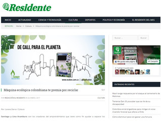 Máquina ecológica colombiana te premia por reciclar