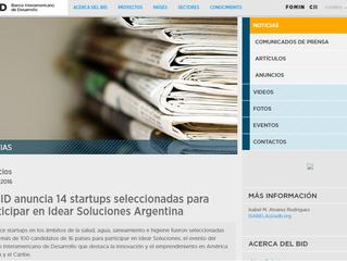 ECOBOT seleccionado como una de las 14 startups para participar en Idear Soluciones Argentina
