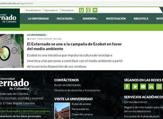 El Externado se une a la campaña de Ecobot en favor del medio ambiente