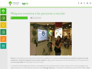 Máquina incentiva a las personas a reciclar