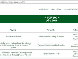 Ecobot en el puesto 48 en el ranking de los mejores 500 proyectos sociales y ambientales de Premios