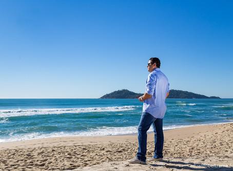 Trabalhando na Praia