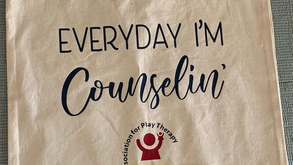 Everyday I'm Counselin' Canvas Tote Bag
