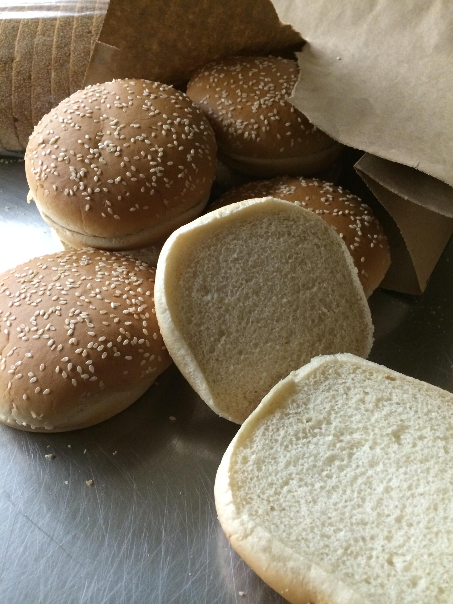 White Hamburger Sesame