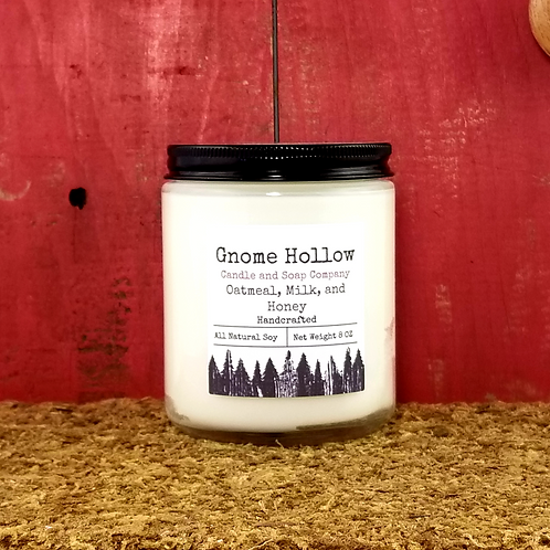 Oatmeal, Milk, and Honey Scented Soy Candle