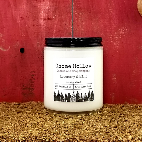 Rosemary and Mint Scented Soy Candle