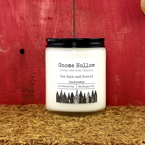 Sea Salt and Orchid Scented Soy Candle