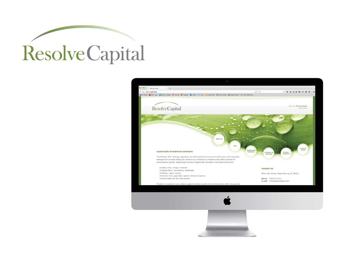 Resolve Capital Logo & Website