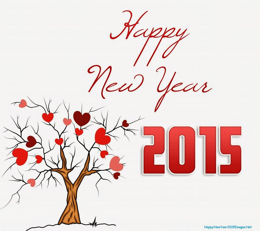Happy New Year 2015 With Tree And Hearts.jpg