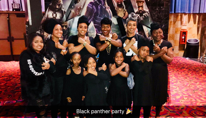 My Black is Beautiful! It's A Family Affair-Movie Night with the Black Panther!