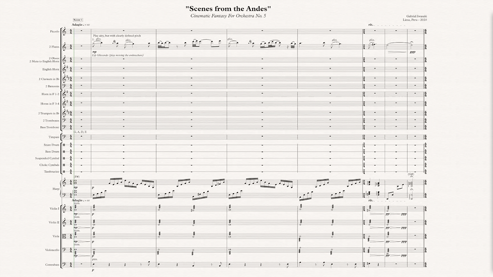 """""""Scenes from the Andes"""" - Orchestral Score + Audio File"""