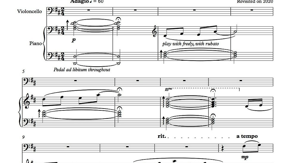 """A Story of Two"" (Score and Parts) - Gabriel Iwasaki"