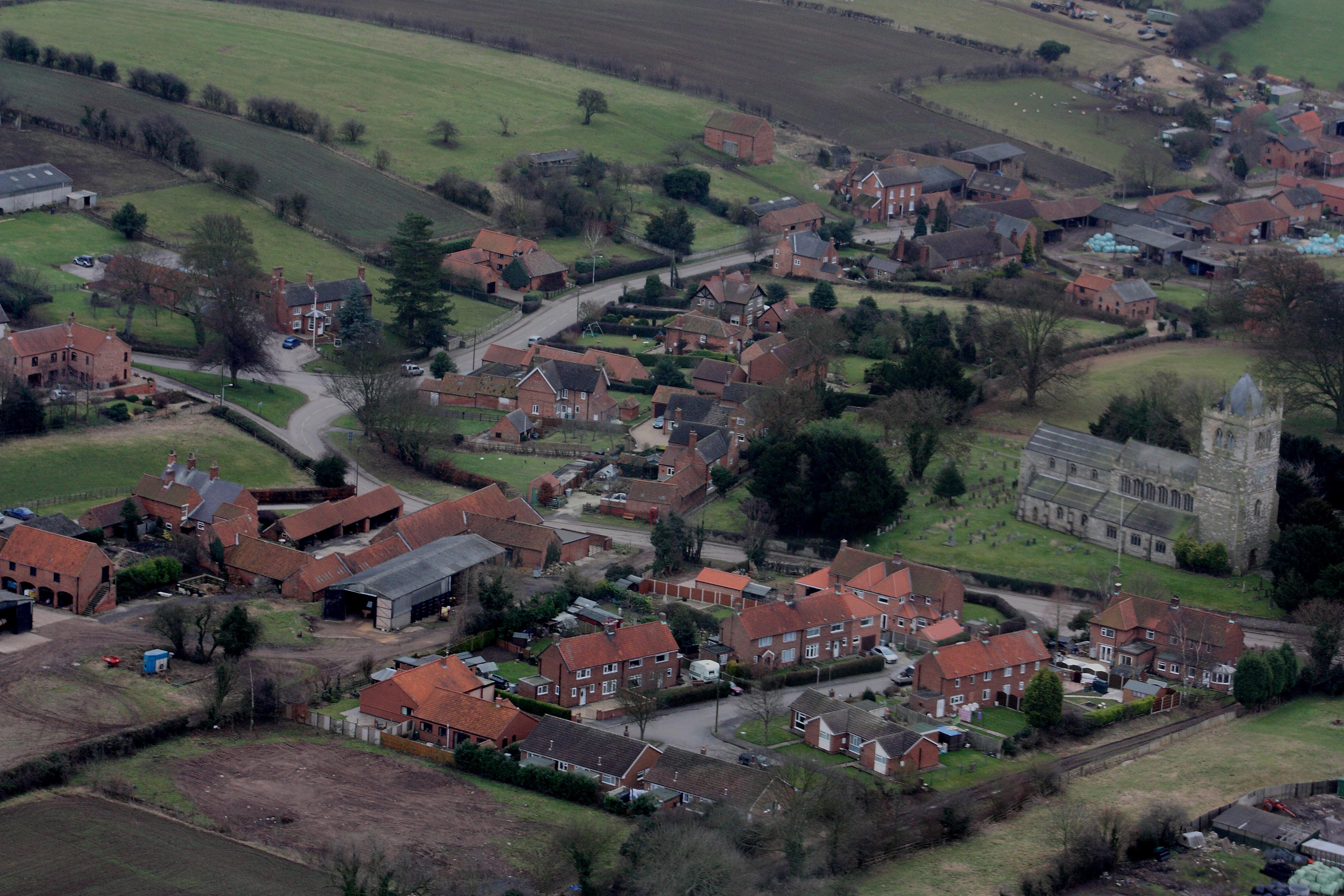 Laxton ariel view
