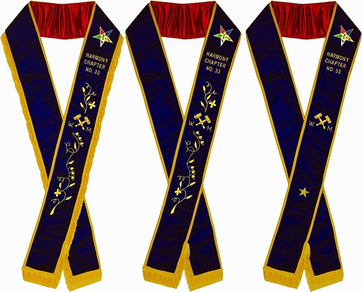 WORTHY MATRON PURPLE VELVET SASH