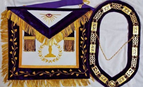 Grand Lodge Collar and Apron Set