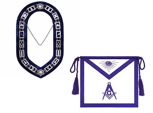 Blue Lodge Collar and Apron Set