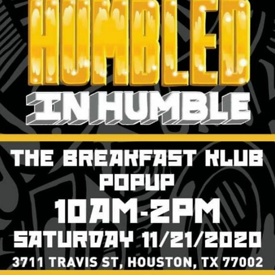 The Breakfast Klub Humbled in Humble Pop-Up