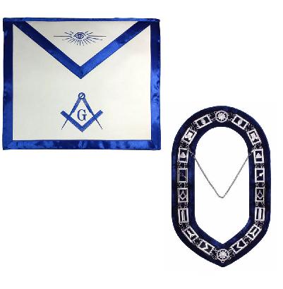 Blue Lodge Collar and Apron Set