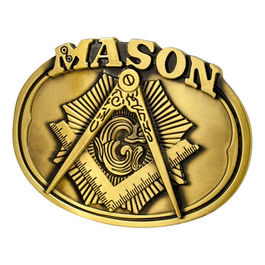 MASON BELT BUCKLE / MASONIC BUCKLE