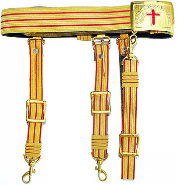 RED AND GOLD SWORD BELT