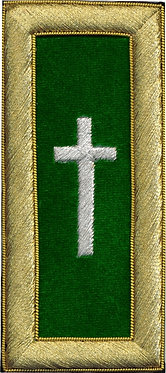 COMMANDER GREEN+WHITE CROSS SHOULDER BOARD