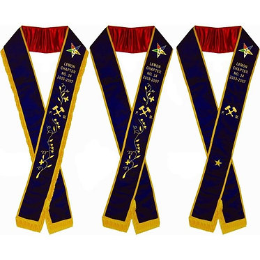 PAST WORTHY MATRON PURPLE VELVET SASH
