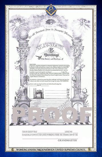 Blue Lodge Member Certificate