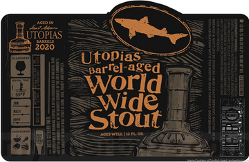 Dogfish Head Adding Utopias Barrel-Aged World Wide Stout