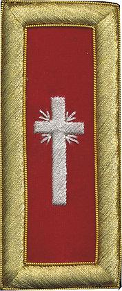PAST COMMANDER RED+WHITE CROSS SHOULDER BOARD