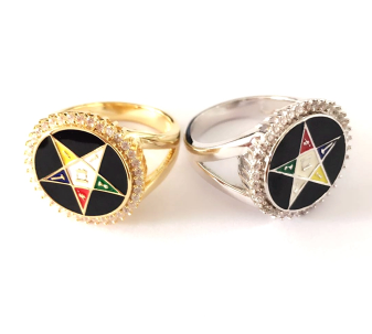 ONYX GOLD AND SILVER OES RING