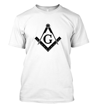 BLACK MASONIC EMBLEM T-SHIRT