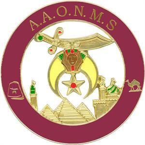 DIE CAST AUTO EMBLEM-SHRINER A.A.O.N.M.S.