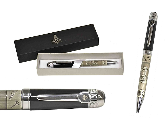 SQUARE AND COMPASS BALL POINT PEN