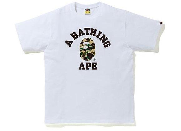 BAPE 1st Camo College T-Shirt (SS20) White/Yellow