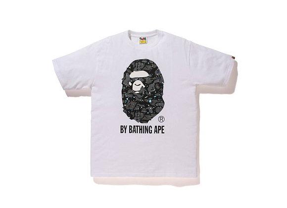 A Bathing Ape Space Camo Big Ape Head tee