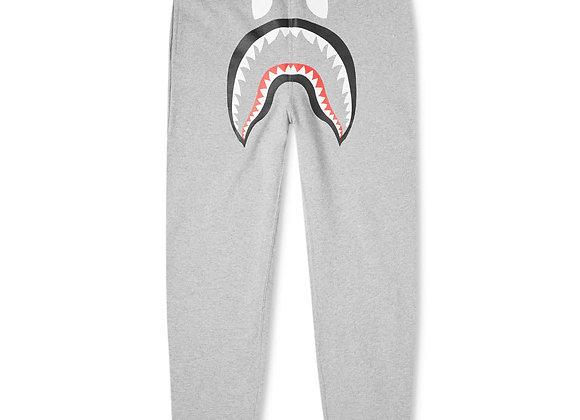 Bape  Gray Shark Sweatpants