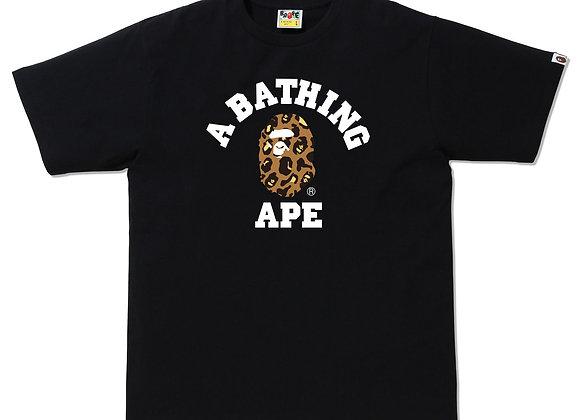 A Bathing Ape Leopard College Tee