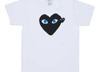 Comme des Garcon Black Play T-Shirt With Blue Eyes