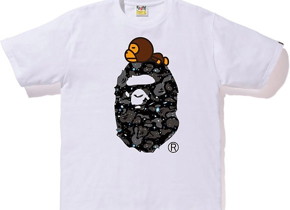 BAPE Space Camo Milo On Big Ape White
