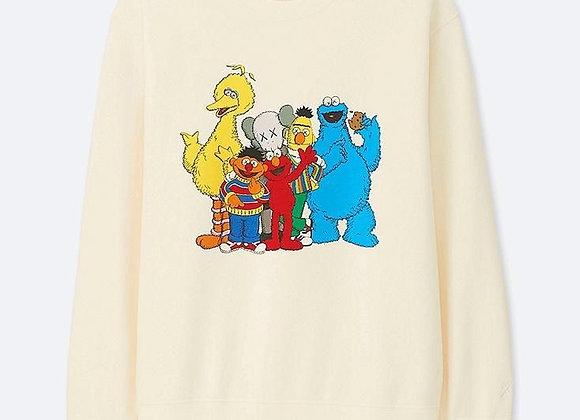 KAWS x Uniqlo Kids Sesame Street Sweatshirt White