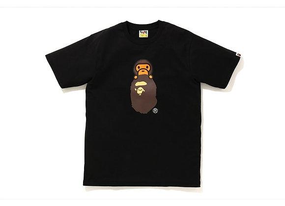 BAPE Family Bag Milo On Apehead T-Shirt Black Ladies