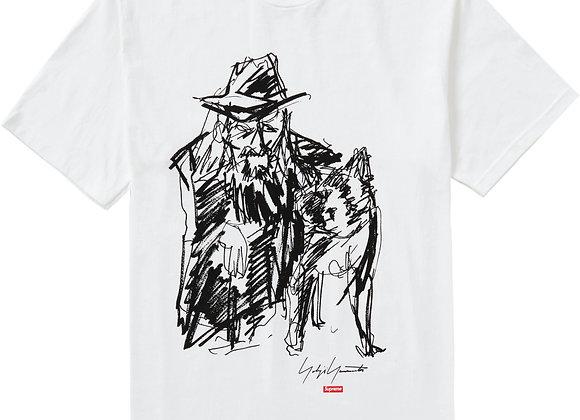Supreme Yohji Yamamoto Scribble Portrait Tee White