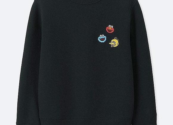 KAWS x Uniqlo Kids Sesame Street Black Sweatshirt
