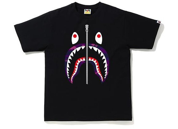 A Bathing Ape BAPE Color Camo Shark T-Shirt
