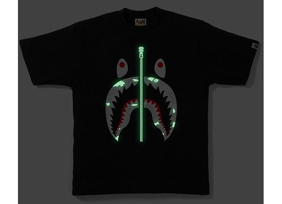 BAPE City Camo Shark Tee Black/White