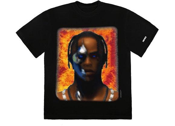 Travis Scott T-3500 Portrait T-Shirt Black