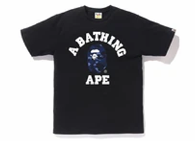 A Bathing Ape Color Camo College Tee